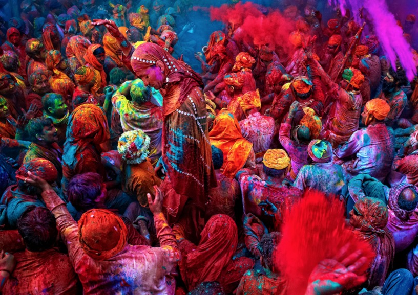 holi colorful image
