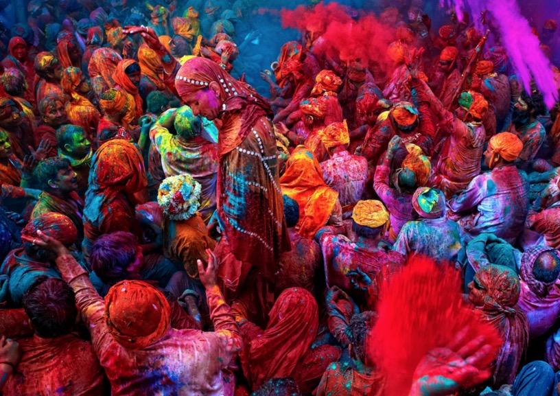 holi colorful image