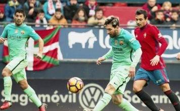 Barcelona vs Osasuna 2017 live streaming, Playing XI