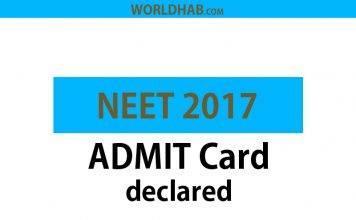 CBSE NEET 2017 Admit card declared - Download NEET Hall Ticket 2017 at cbseneet.nic.in