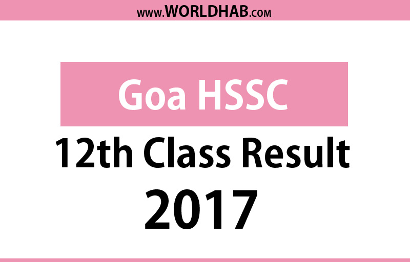 Goa Board HSSC Results 2017 declared at gbshse