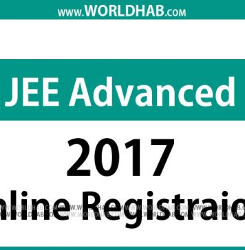 JEE Advanced 2017 online Application form Registration