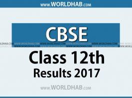 CBSE class 12th result 2017
