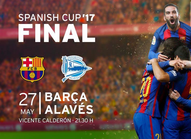 Copa del Rey Final - Barcelona vs Alaves live streaming on TV, online