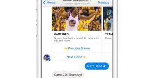 Golden State Warriors Fans can get Scores, Videos on Facebook Messenger!
