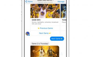 Golden State Warriors Fans can get Scores, Videos on Facebook Messenger!