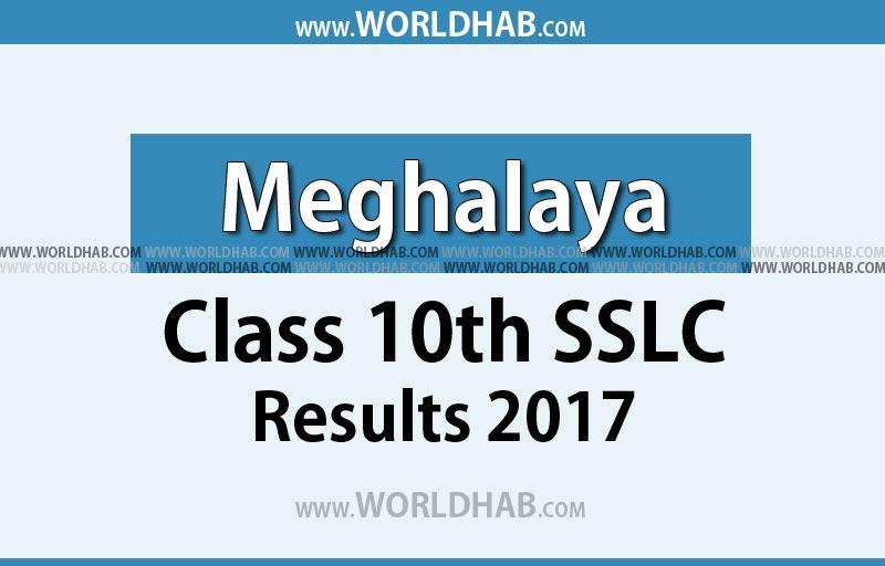 Meghalaya class 10th SSLC result 2017