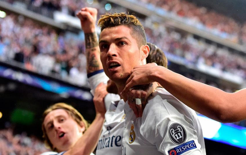Cristiano Ronaldo hat trick carries Real Madrid in semifinal first leg