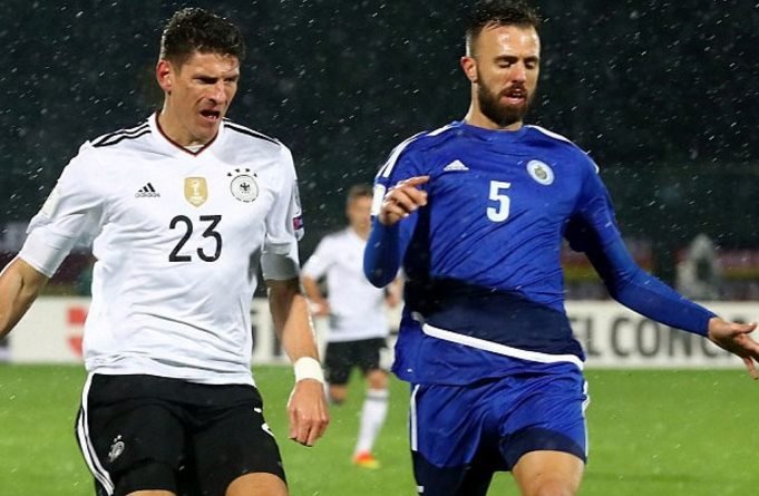 Germany routs San Marino to stay perfect in WCup qualifying
