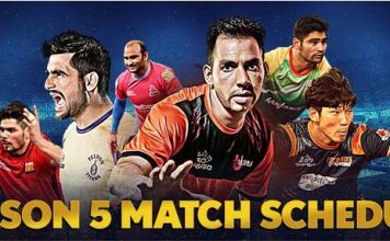 Pro Kabaddi League 2017 Complete schedule - Four New teams added