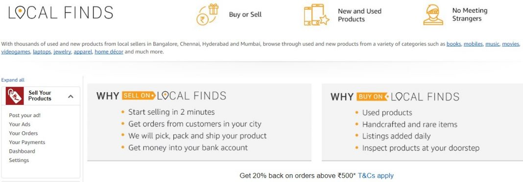 Amazon Local Finds officially launches