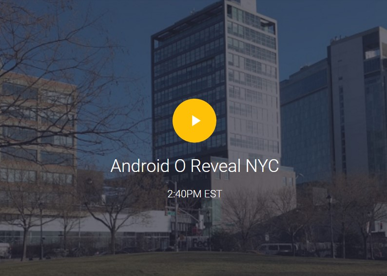 Android O launch live