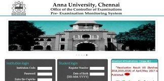 Anna University Revaluation Result UG of April May 2017