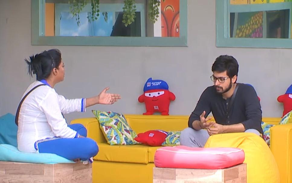 Bigg Boss Tamil Kaajal seens telling Harish about Suja