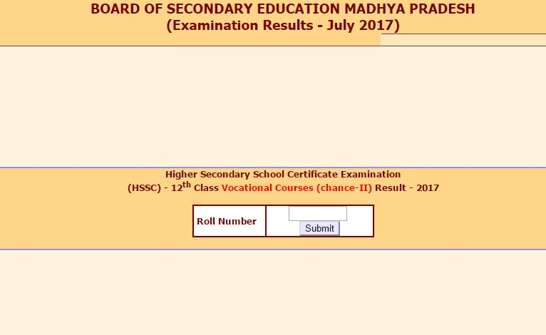 MPBSE 12th Supplementary Results 2017 declared
