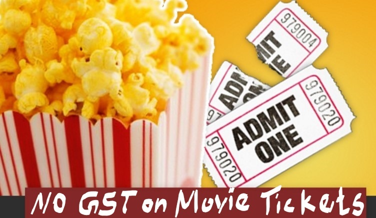 No GST on Movie Tickets for the films shot 50% in this State