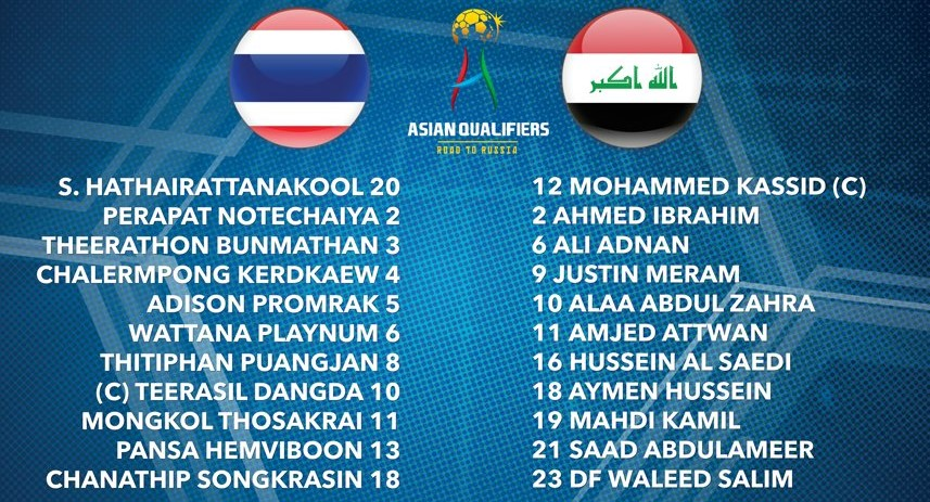 Thailand vs Iraq