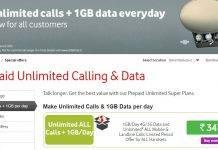 Vodafone Unlimited Calls & 1GB Data per day