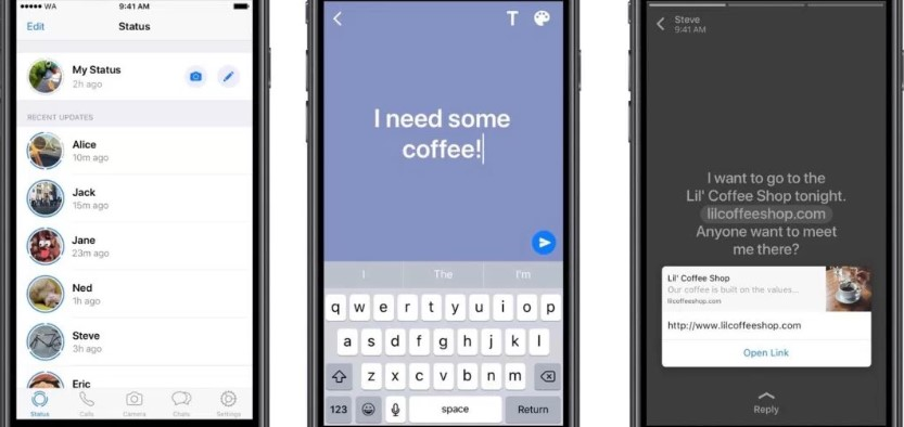 WhatsApp Text-based coloured status launching on New version