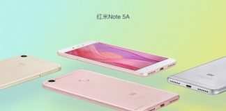 Xiaomi Redmi Note 5A key specifications