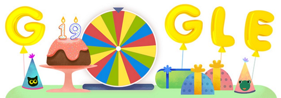Google Birthday Surprise Spinner special Google Doodle