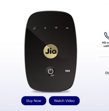 JioFi M2S 4G Hotspot data card at Rs 999