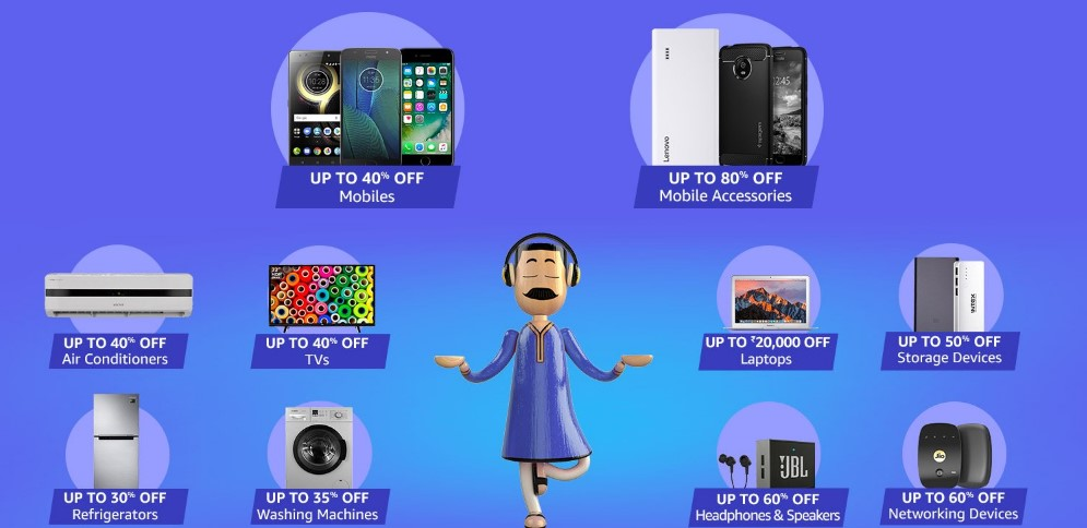 Amazon Great Indian Festival Sale Diwali shopping