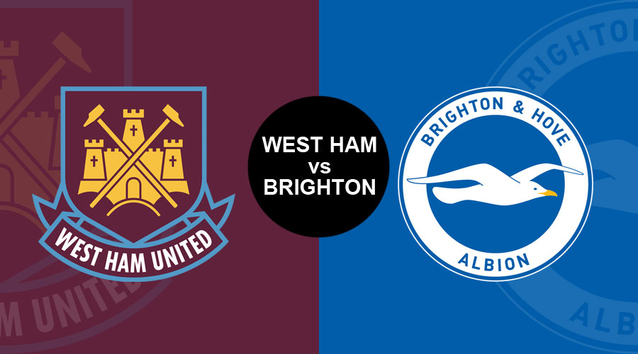 Image result for WEST HAM UNITED VS. BRIGHTON & HOVE ALBION live pic logo
