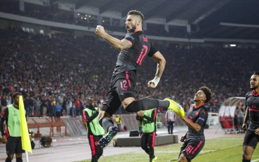 Arsenal vs Red Star Belgrade Live Streaming UEFA Europa League