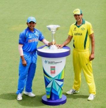 India vs Australia U19 live Cricket Score