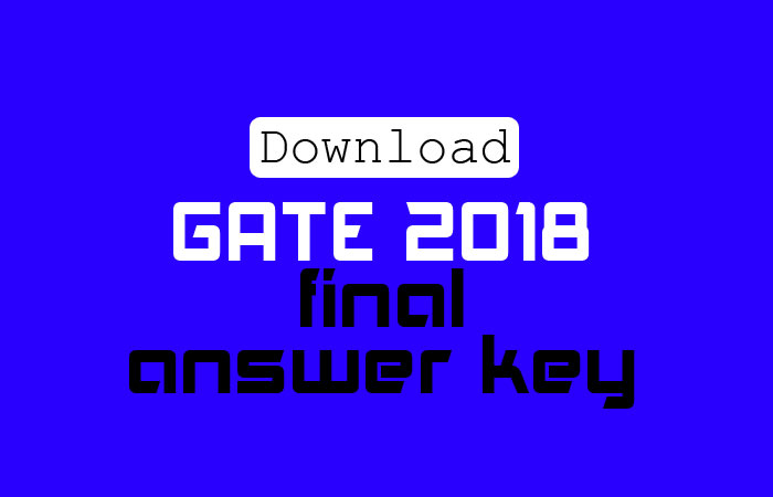 GATE 2018 final answer key