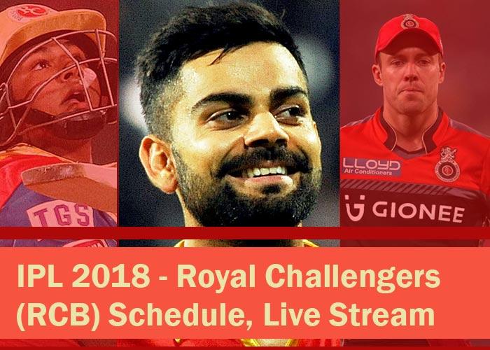 IPL 2018 - RCB schedule