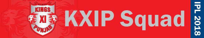 KXIP squad - IPL 2018