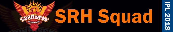 SRH squad - IPL 2018