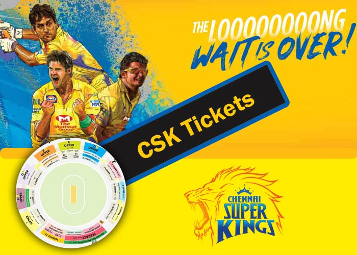 CSK Tickets - IPL 2018 Chennai Super Kings Tickets