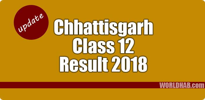 Chhattisgarh CG 12th results 2018