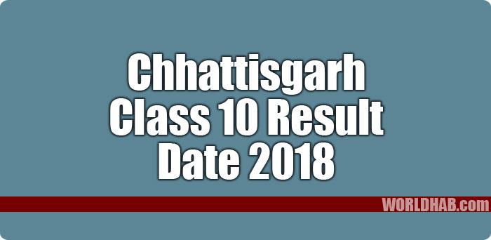Chhattisgarh Board Class 10 Result 2018 date