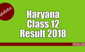 Haryana HBSE 12th result 2018