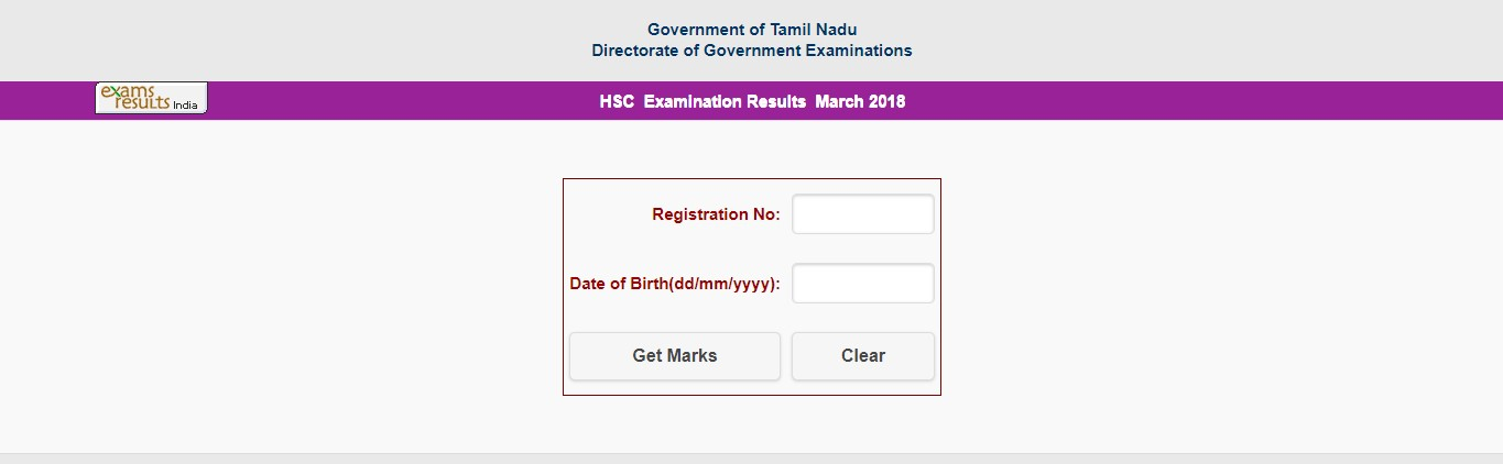 TN HSC result 2018 declared