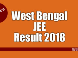 West Bengal WBJEE results 2018