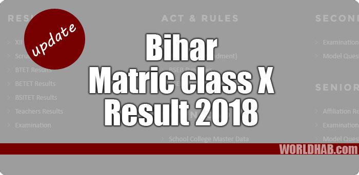Bihar 10th Result