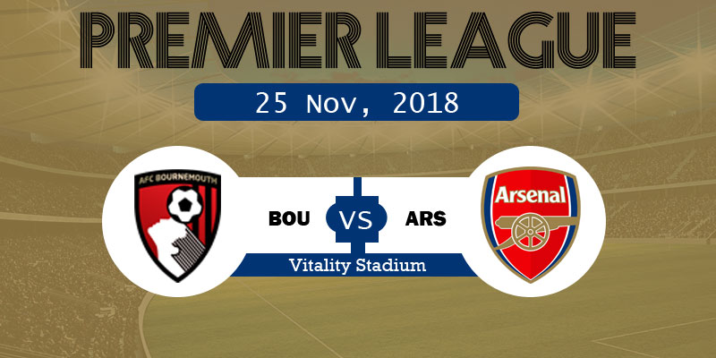 Bournemouth vs Arsenal Live Stream, Starting 11