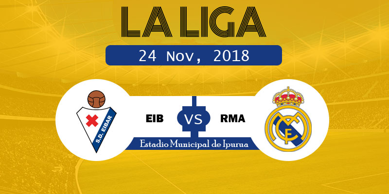 Eibar vs Real Madrid LaLiga: RM vs EIB Live goals, starting XI