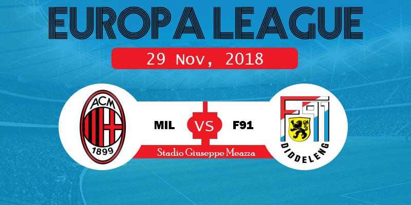 Milan vs Dudelange Live Stream, Starting XI