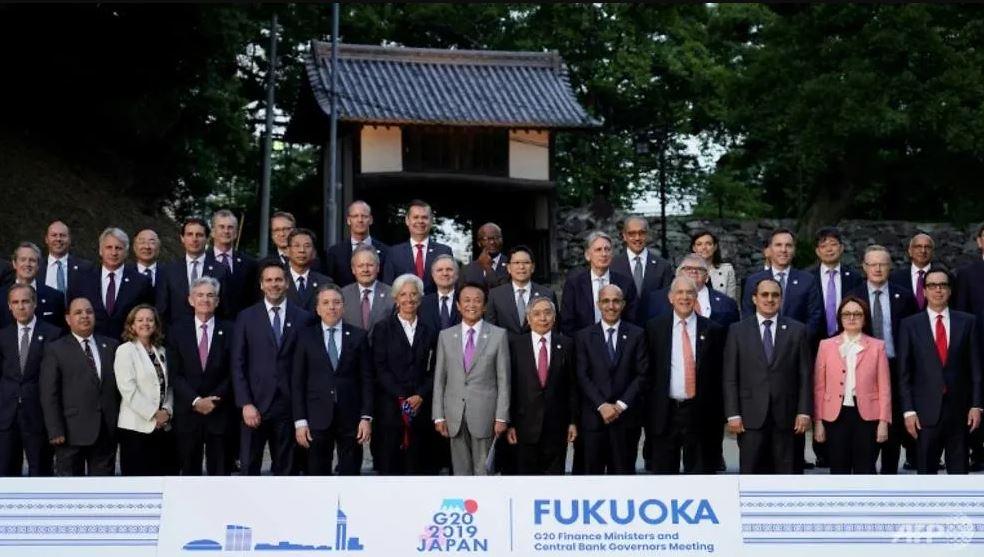 Motto of G20 Finane Ministers meet at Japan's Fukuoka