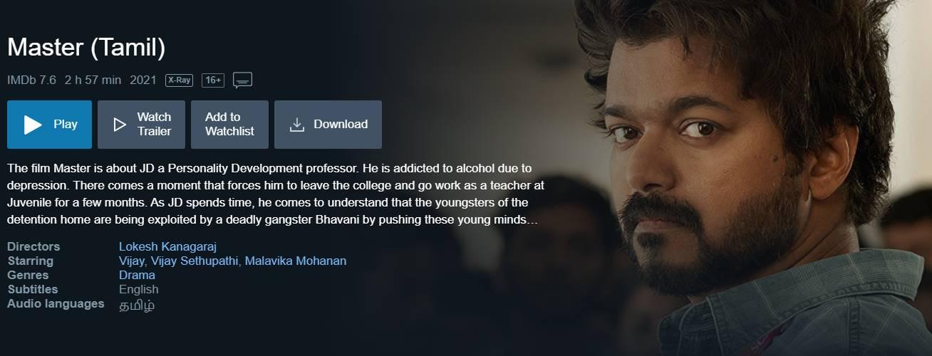 Download Vijay Master Movie