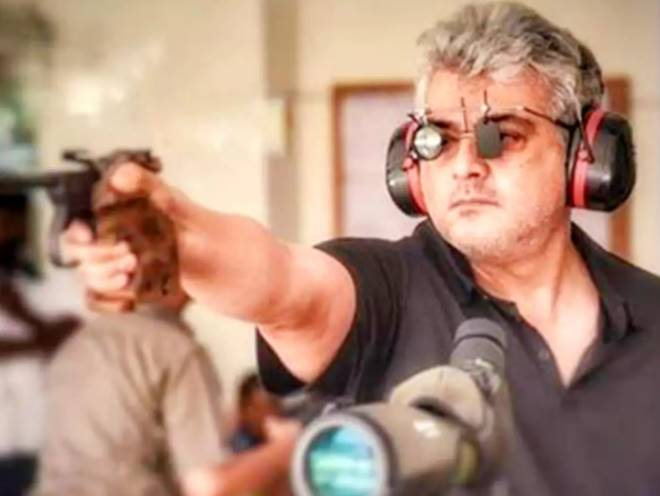 Tamil actor Ajith again in the national level shooting competition