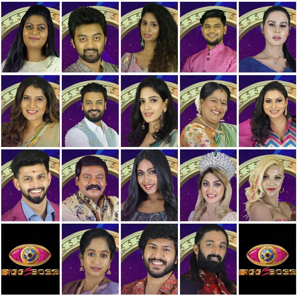 Bigg Boss 5 Tamil Contestants list